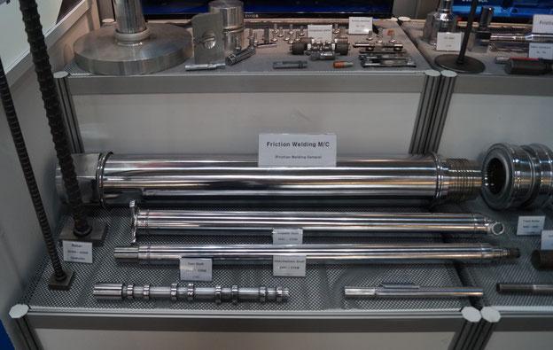 Ausstellung von auf U-Jin-Reibschweißmaschinen hergestellten Produkten auf der EMO 2019 in Hannover