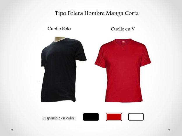 Modelo Polera manga corta para Hombre, en cuello polo o cuello en V para practica de Tai Chi en WCTA Chile (ex CXWTA Chile)