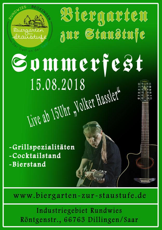 Sommerfest 2018 im Biergarten zur Statustufe - Beckingen am 15.08.2018