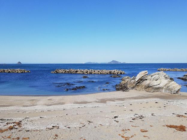 和具大間から見る海