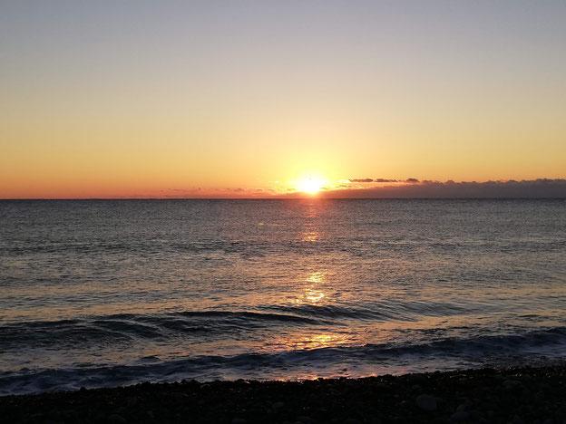 七里御浜で見た初日の出