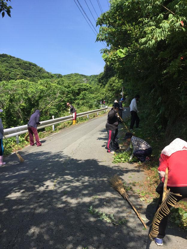 県道清掃の様子