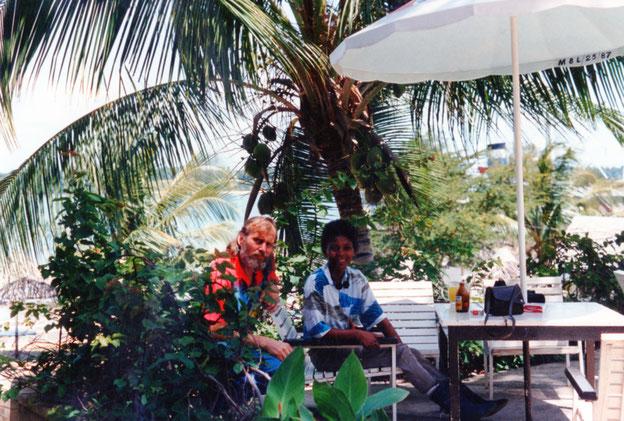 """Terry und ich im Garten von """"Florida-Night-Club"""""""