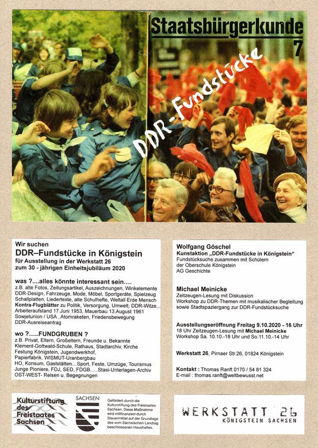 Flyer DDR- Fundstücke Oktober 2020