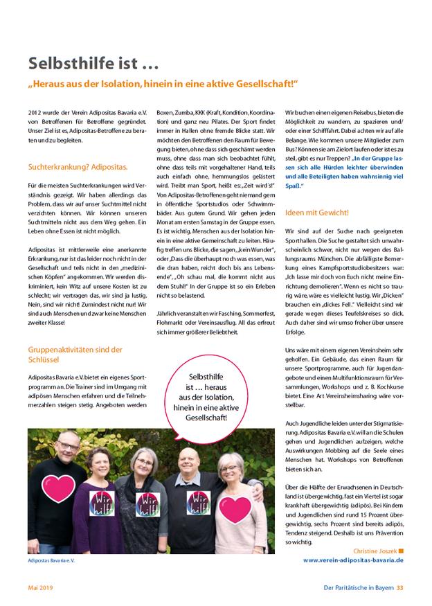 Themenheft paritätischer Wohlfahrtsverband Mai 2019