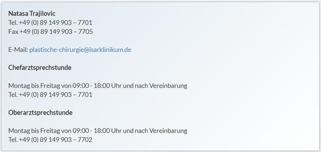 plastische-chirurgie@isarklinikum.de