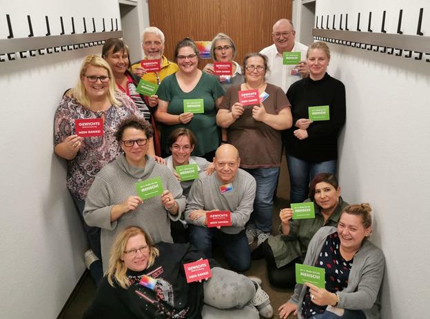Einige Teilnehmer der Adipositas Selbsthilfegruppe Altperlach in München