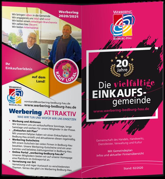 Der aktuelle faltplan des Werbering Bedburg-Hau.