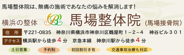 横浜の整体 馬場整体院(馬場接骨院)の住所、電話番号、受付時間、アクセスの説明画像