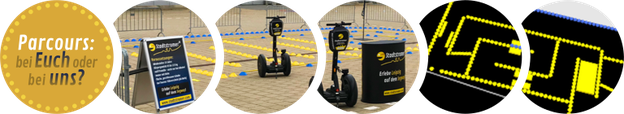 Segway Parcours in Leipzig: Indoor Parcours oder mobil