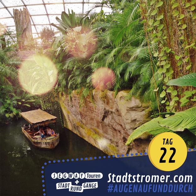 Boot auf dem Gamanil im Gondwanaland im Zoo Leipzig
