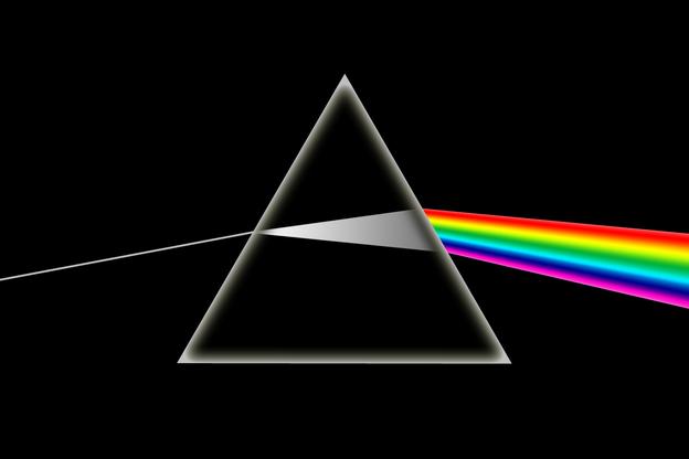 scomposizione della luce bianca nei sette colori fondamentali