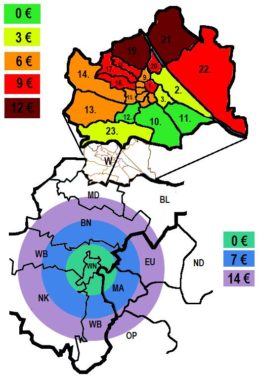 Anfahrtspreise für Wien, Niederösterreich und Burgenland