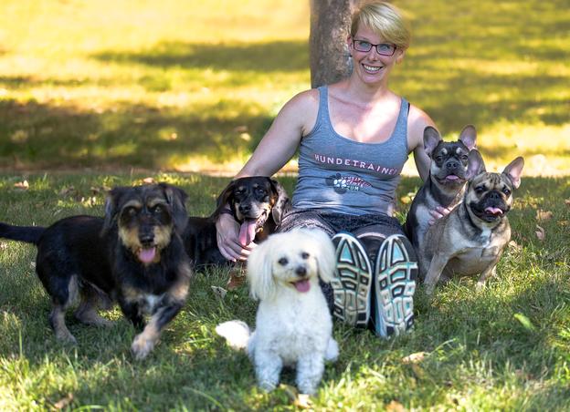 mit Max, Thea, Jeannie, Josie und Mimi (rechts nach links)