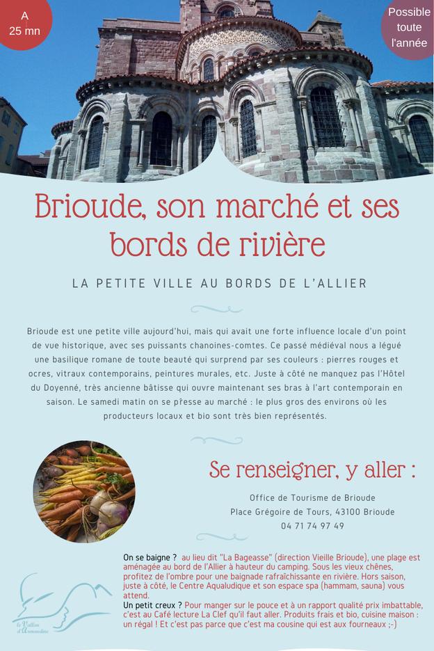 Vacances locavore avec le marché de Brioude