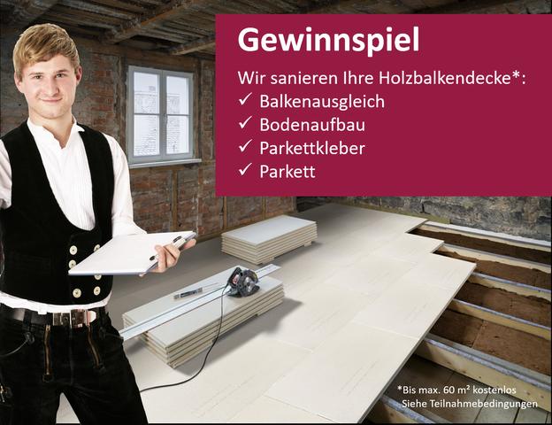 Holzbalkendecke sanieren durch Knauf, Compono, Stauf und S. Fischbacher Living