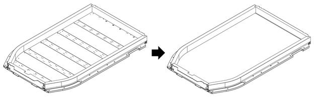 Vereinfachung der Konstruktionsgeometrie der Vollrahmenstruktur.