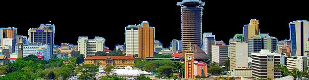 Skyline von Nairobi - die Hauptstadt von Kenia