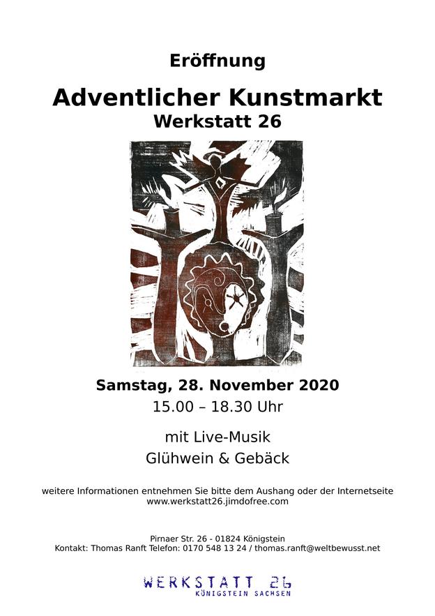 Flyer Adventlicher Kunstmarkt November 2020