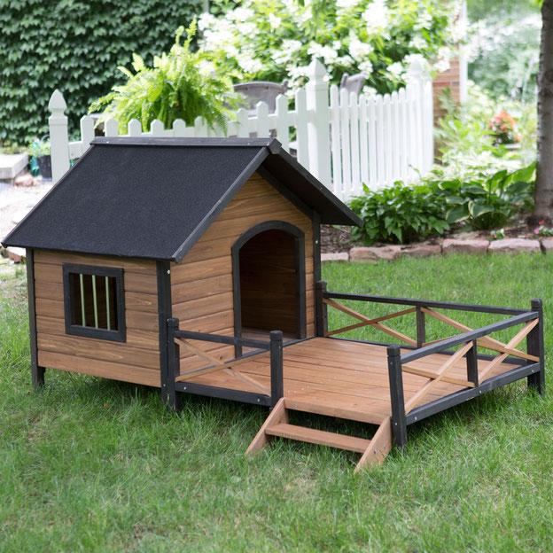Будка для собак с утеплением деревянная,будка с верандой
