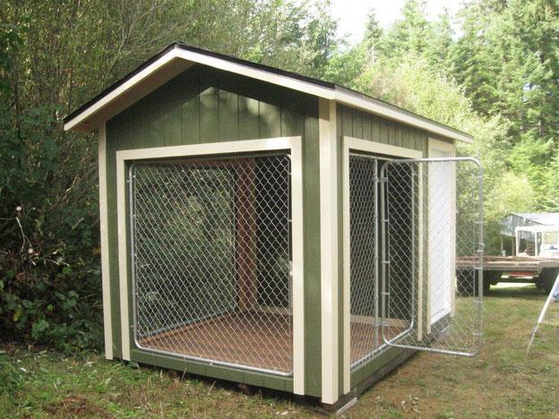 Будка для собак с утеплением деревянная,будка с вольером