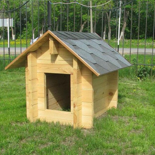 Будка для собак с утеплением деревянная