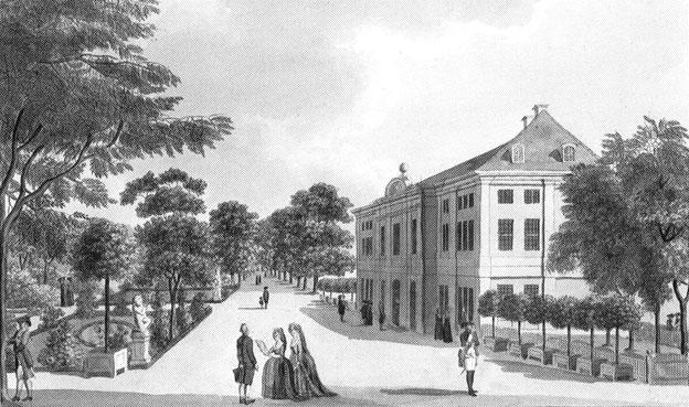 Schloss Schönhausen 1787 - von Schwarz (Touristik-Heft) via Wikimedia Commons