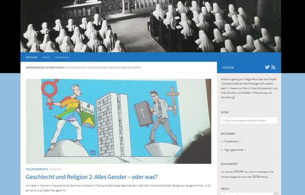 Screenshot des Blogs von Helga Penz