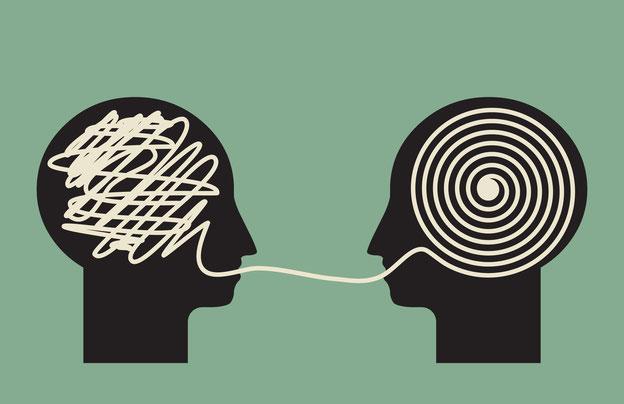 zwei Köpfe, Kommunikation