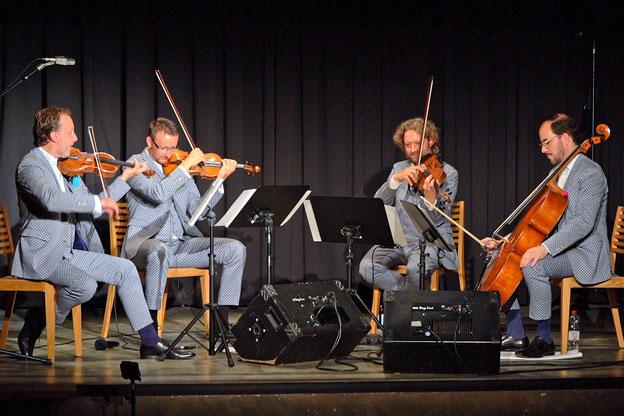 Musica Bayreuth 2021: Konzert mit dem Kaiser Quartett im Brausaal des Liebesbier      Fotos: Harbach