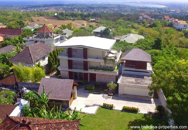 Balangan high end villa with stunning views over Bali.