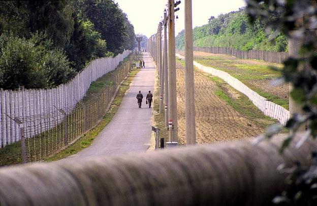 Todesstreifen an der Berliner Mauer