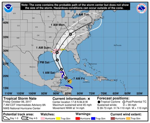 Fast jedes Jahr gibt es eine latente Hurricane Gefahr  zwischen Honduras und Cancun, Izamal ist sehr viel sicherer vor Naturgewalten
