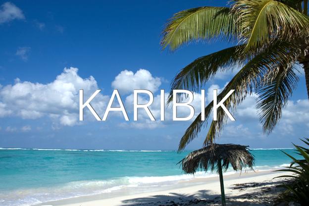 Karibische Insel mit Yacht-Urlaub
