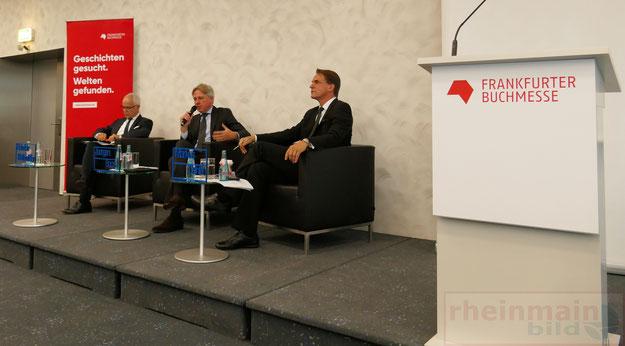 Heinrich Riethmüller, Juergen Boos und Markus Dohle Eröffnungspressekonferenz © Fpics.de/Klaus Leitzbach