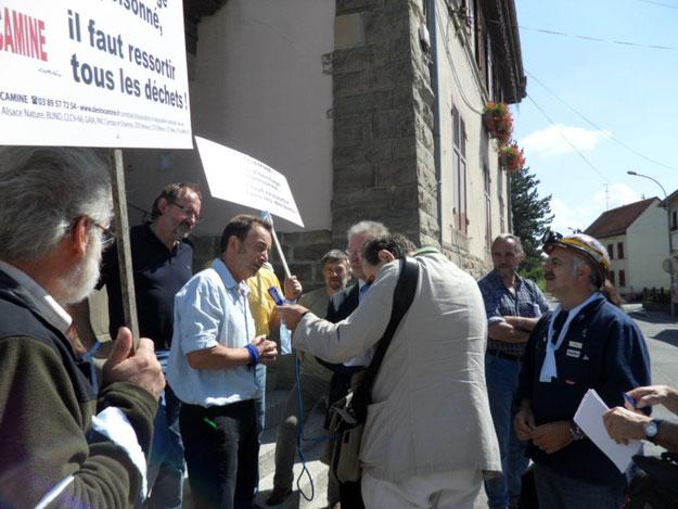 Le 2 juillet 2011 en mairie de Pfastatt avec le député-maire Hillmeyer