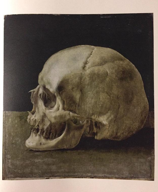 フェルシアン・ロップスの骸骨画。