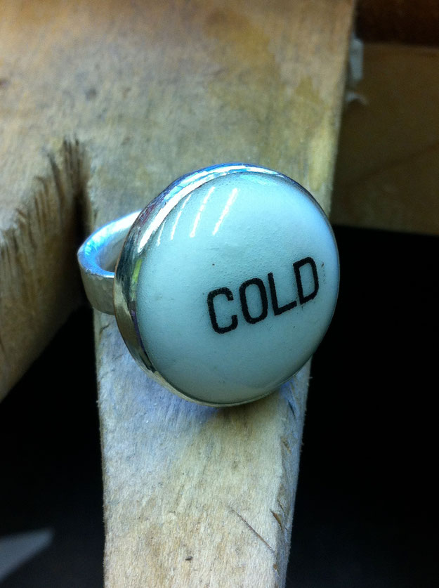Cold ring in process. Collection of Michele Smith Flattum.