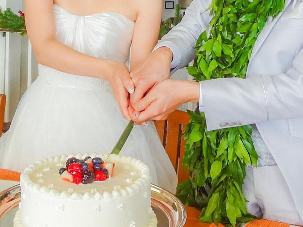 渋谷turtlesタートルズ パーティー結婚式二次会コース ウエディングケーキフリー、入刀式を無料でご用意致しております。
