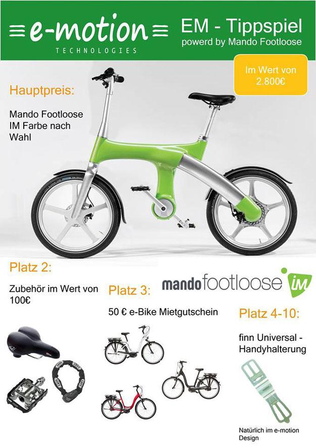 EM Tippspiel – Gewinnen Sie ein Mando Footloose e-Bike
