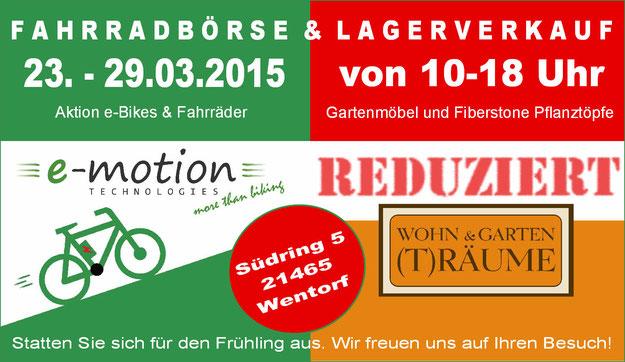 Fahrradbörse und Lagerverkauf e-motion e-Bike Welt Hamburg