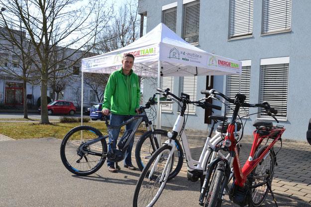 e-motion Würzburg auf dem Elektro-Fahrrad-Stadtfest
