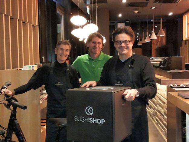 Sushi Shop liefert Sushi mit e-Bikes von e-motion