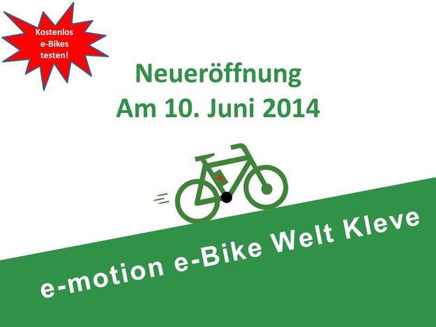 Neueröffnung e-motion e-Bike Welt Kleve