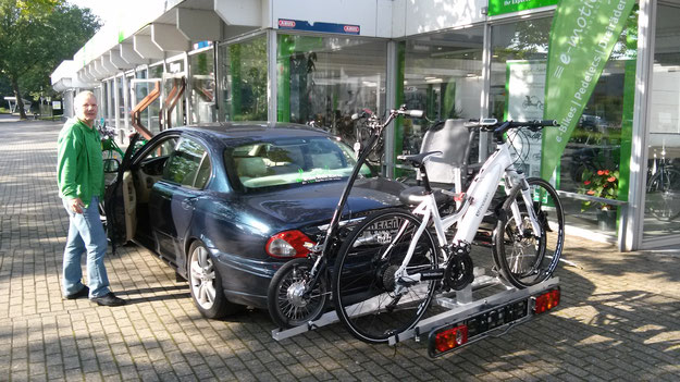 e-Bike Heckträger bei e-motion