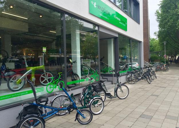 Besuchen Sie die neue e-motion e-Bike Welt Braunschweig