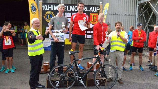 Die Sieger des Hauptlaufes über 9,1 km: Christian Biermann (1.Platz), Jan Boysen (2.Platz) und Jens Noritzsch-