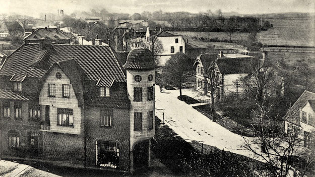 Die Kieler Straße vor fast 100 Jahren vom Kirchturm aus gesehen