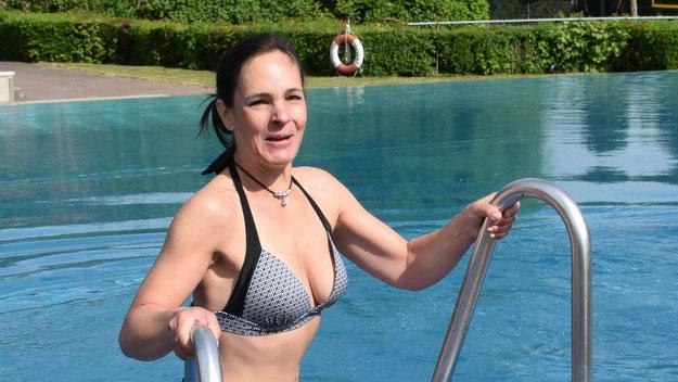 Auch Annabell Krämer, eifrige Nutzerin des Freibades, kann die Anlage noch länger nutzen.