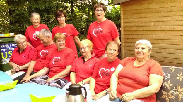 Insgesamt 15 Helferinne und Helfer waren beim AWO-Sommerfest im Einsatz